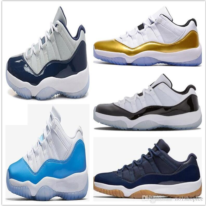 new style b7c8a 67aa9 2019 Black out Prom Night 11 Midnight Navy blue 11s Gym red Running Shoes  Bred blue Men Women sports Sneakers 36-46
