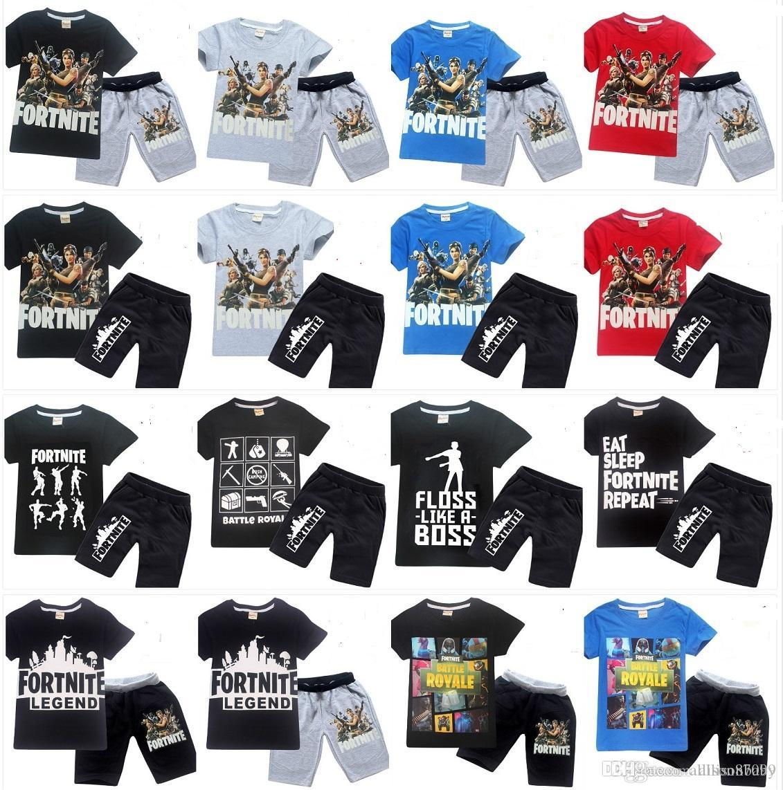 029bf75b 2019 Summer Fortnite Kids Clothing Set T Shirt Tees+ Shorts 100%cotton  Middle Big Kids Cool Print 2019 Cheap Wholesale Free DHL From Allisonbaby,  ...
