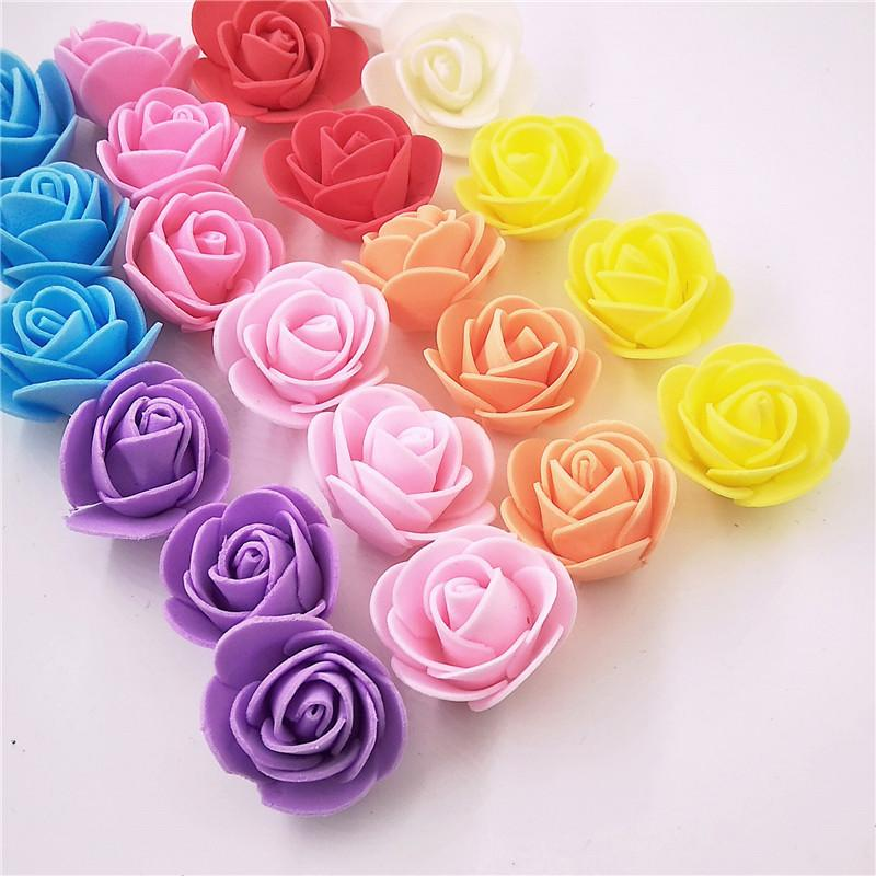 flower wreath 100pcs/lot Artificial Rose Flowers Mini PE Foam Rose Flower Head Handmade DIY Wedding Home Decoration Festive & Party Supplies