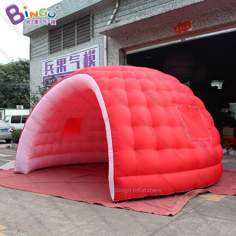 2ac5765870ca Rojo 5 * 2.9 metros cúpula inflable / iglú de nieve inflable / carpa domo  inflable iglú- carpa de juguete