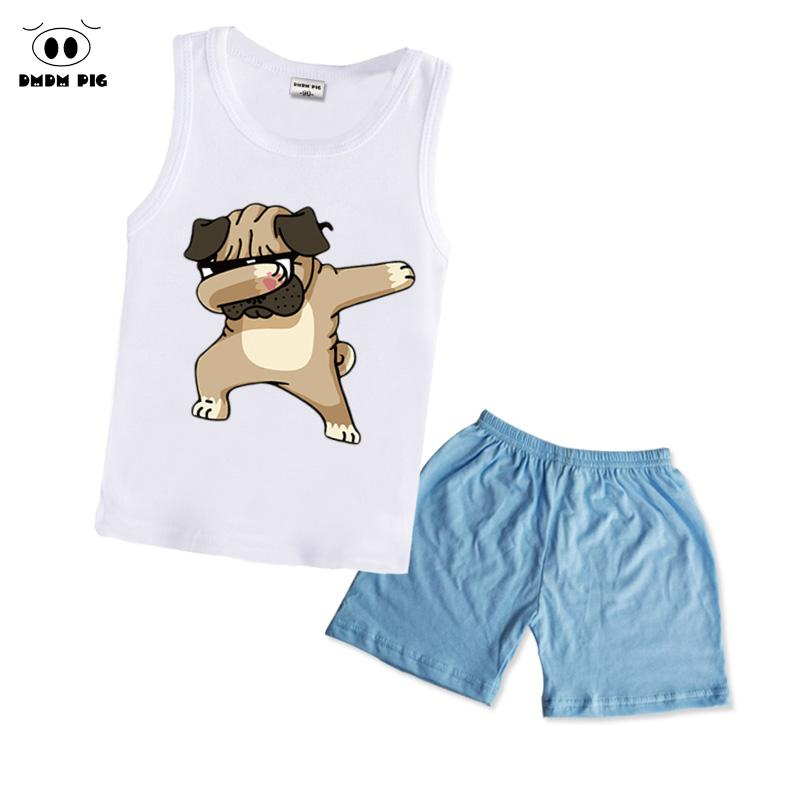 f309451d8 DMDM PIG Boys Clothing Sets Children Summer Girls Clothes Dabbing Funny  Cartoon Kids Sport Suits Vest+Pants Size 4T 2 3 4 Years Clothing Sets Cheap  Clothing ...