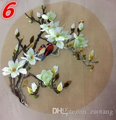 cedde4e0683e 2019 Double Side Chinese Suzhou Hand Embroidery Works Round 20cm DIY  Decorative Used For Bag Clothing Hand Fan Paintings Home Decor Ornaments  Etc From ...