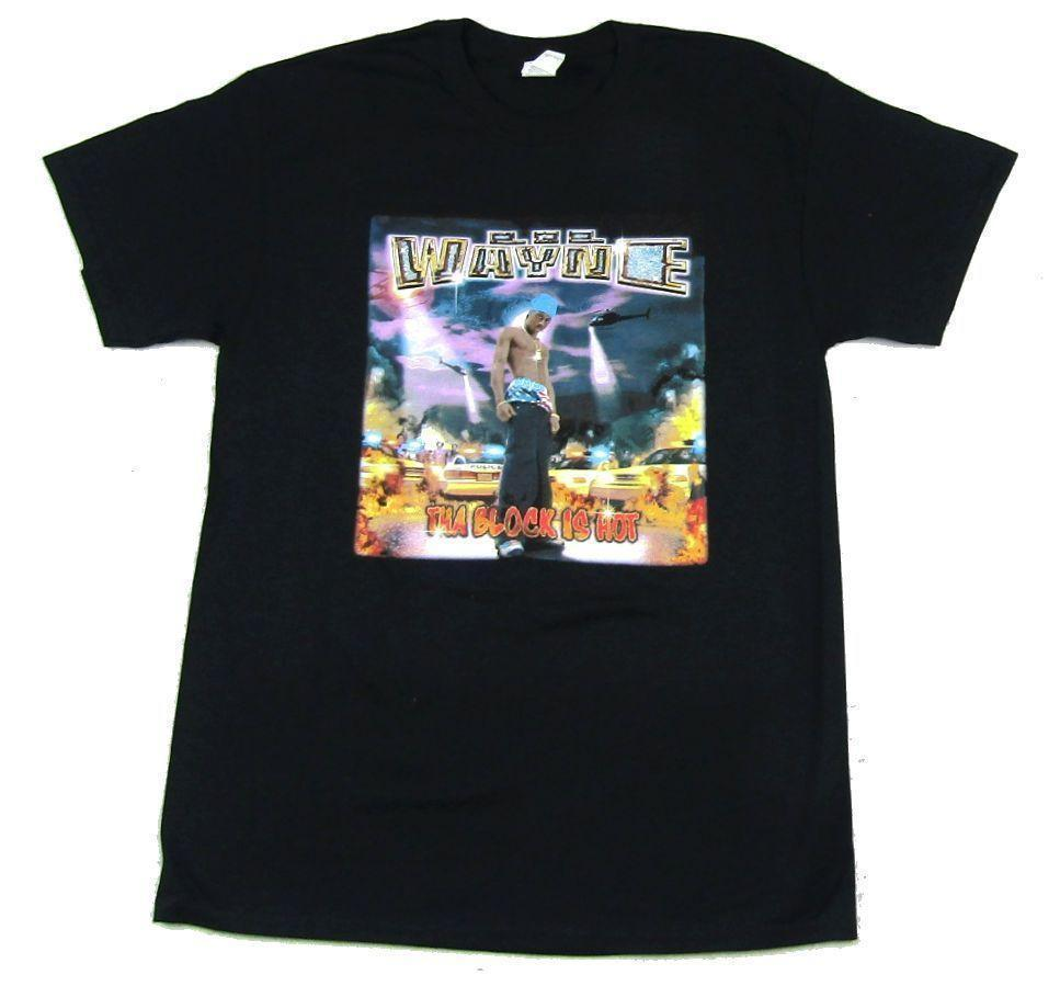 Lil Wayne Tha Block Is Hot Songs Black T Shirt New Official Cash Money Records