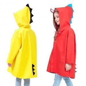 8976340e9769 Kids Dinosaur Hooded Raincoat Baby Cute Boys Girls Windproof Poncho ...