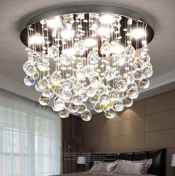 En Acier Cristal Maison À Manger Inoxydable Plafond Led Diy Déco Circulaire Mode K9 Lampe Salle Llfa Plafonnier De 80vmNOwn