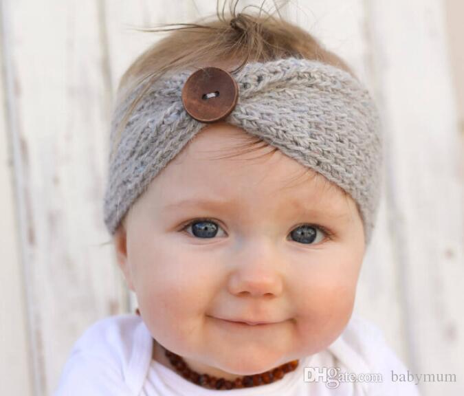 Großhandel Kinder Schnalle Gestrickt Häkeln Stirnband Baby Winter