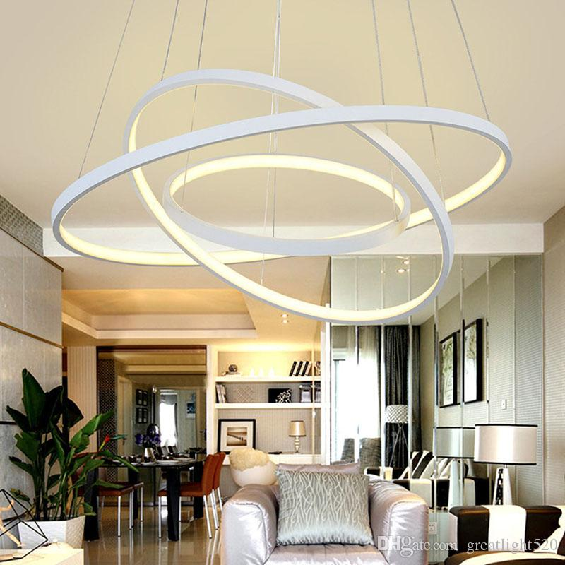 Modern Circular Ring Pendant Lights 3/2/1 Circle Rings ...