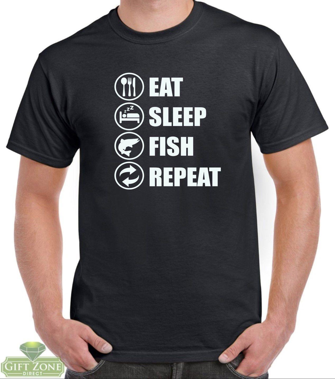 cf70431f Eat Sleep Fish Repeat Funny Fishing T Shirt Fisherman Gift Funny Unisex  Casual Tshirt Funny T Shirts For Men Make T Shirts From Buyfriendly,  $12.96| DHgate.