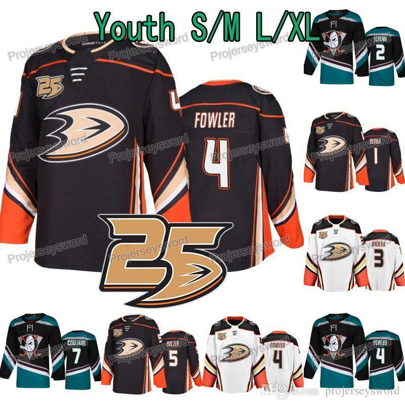 official photos 67573 53817 Youth 25th Anniversary 4 Cam Fowler Anaheim Ducks Jersey 1 Reto Berra 2  Luke Schenn Kevin Bieksa Korbinian Holzer Andrew Cogliano Jerseys