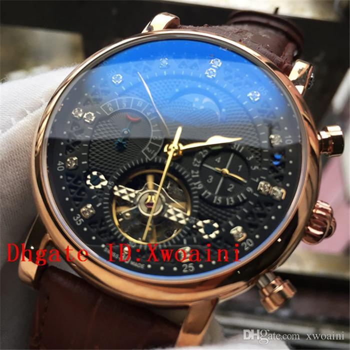 5be47c3763d Mens Watches Top Brand Luxury Brown Leather Watch Date Week ...