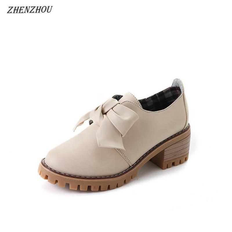 eec84b14870e Designer Dress Shoes ZHENZHOU 2019 New Women s Thick with Single ...
