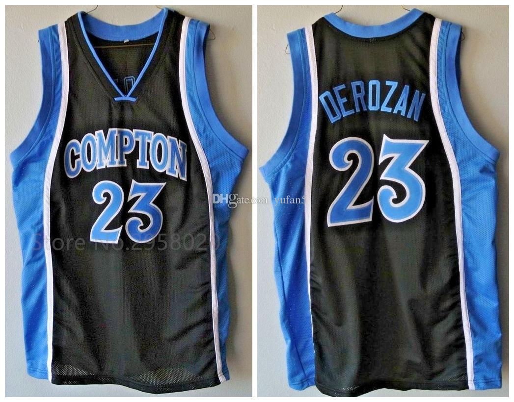bf0177c2467 2019 #23 Demar Derozan Compton High School Retro Classic Basketball Jersey  Mens Stitched Custom Number And Name Jerseys From Yufan5, $23.35 |  DHgate.Com