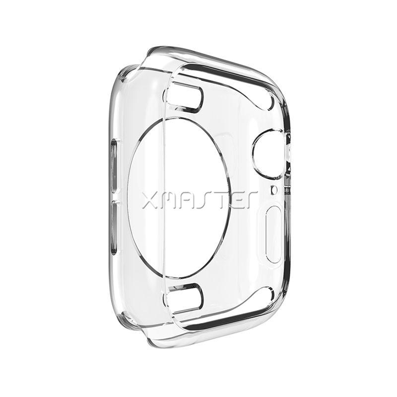 Perakende Ambalaj Apple İzle Serisi 4 3 2 44mm 40mm 42mm 38mm için iWatch Temizle Tampon Kapak Yumuşak Şeffaf TPU Frame için