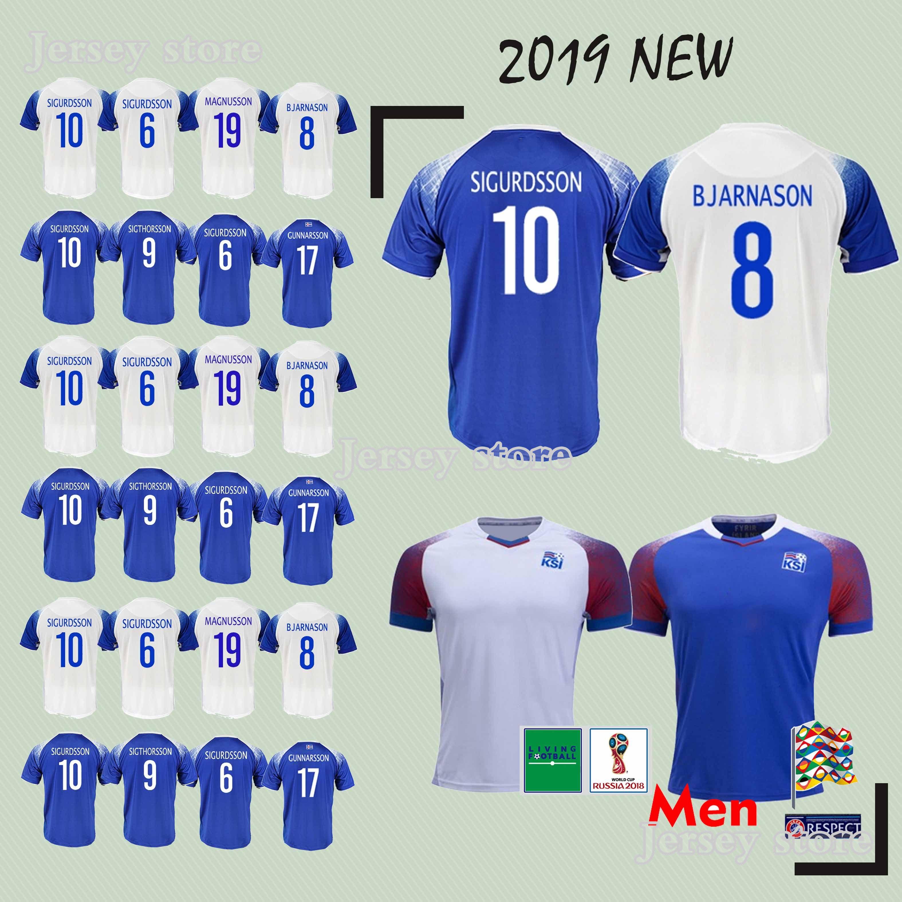 new concept 1cea0 93c79 Iceland soccer Jersey GUDMUNDSSON SIGTHORSSON G.SIGURDSSON TRAUSTASON  FINNBOGASON INGASON new Football jerseys 2018 world cup