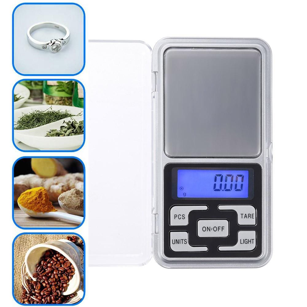 Mini Pocket Digital Scale for Gold Sterling Silver Jewelry Balance Gram Electronic Scales 100g/200g/500g x 0.01g /0.1g/ VT0026