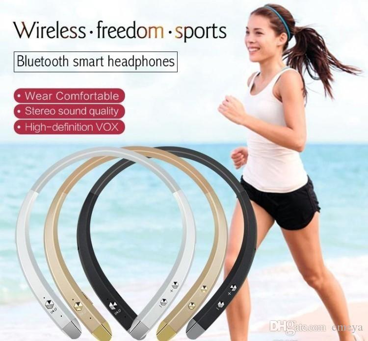 New HBS-913 Wireless Bluetooth Headsets Sport Neckband In-ear Stereo Earphones For Samsung LG Tone Android phone wireless Headphones BT