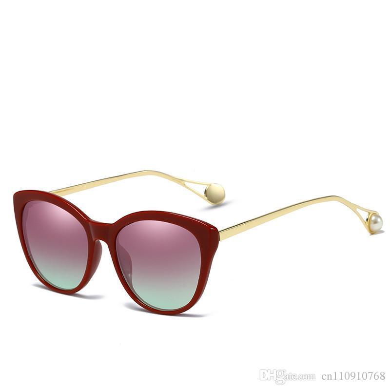 dbd9709439 Compre ACQ17 Cat Eye Pearl Sunglasses Mujeres Tendencias Con Estilo Moda  Popular Marco De Plástico Metal Temple BOTERN EYEWEAR Envío De Gota GRATIS  A Nivel ...