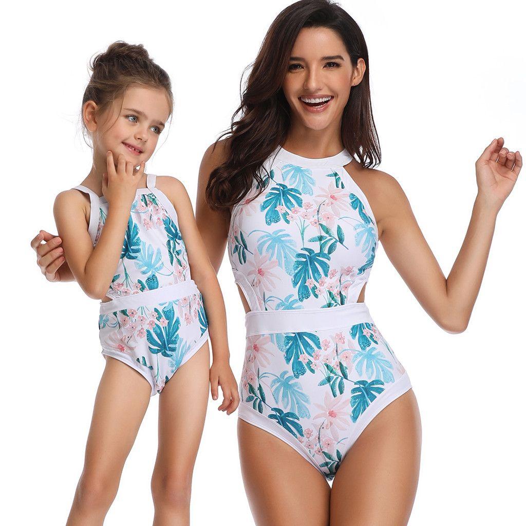 41375f7e8e0b23 2019 Bikini 2019 Sexy Swimwear Mother And Daughter Print Sexy Swimsuit  Matching Bathing Beachwear Dropshipping Biquini Bodysuit From Stepheen, ...