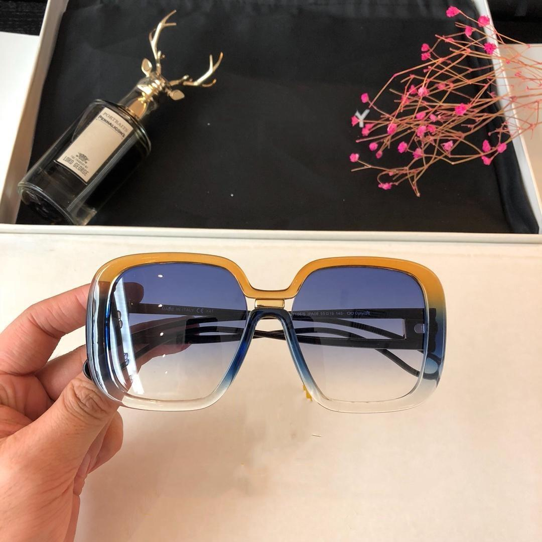 ddd7ca4522e Luxury Fashion Designer Sunglasses for Women 7106 Square Frame ...