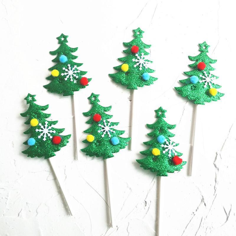 Christmas Ornaments Christmas Tree Cake Insert Card Snowflake Hair
