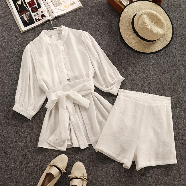 Fashion Women Long Sleeve Color Blocking Short Pants Set Casual Clubwear 2pcs
