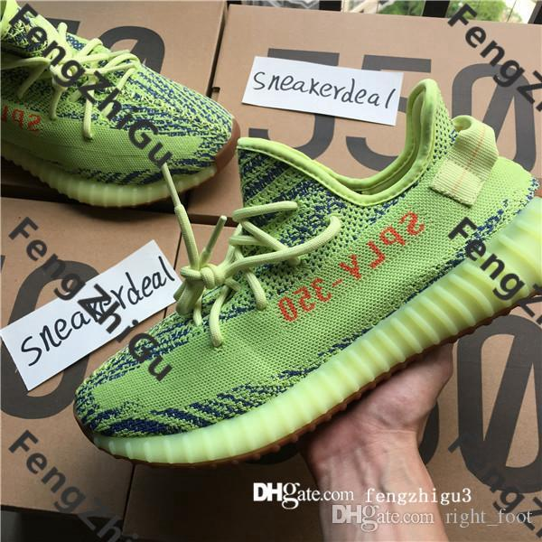e1a16fe2cbcce With Box Top Quality Designer Butter Sesame 350 Sneaker Static Refective  Blue Tint static cream white Hyperspace True form Clay Oreo Bred Zebra black  Light ...