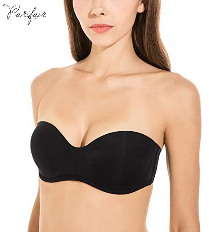 7f2d6e953d1da PariFairy - Soutien-gorge sans armatures lisse et multiusage à armatures  avec sous-vêtement style bandeau, sans doublure coupe mince, plus la taille  ...