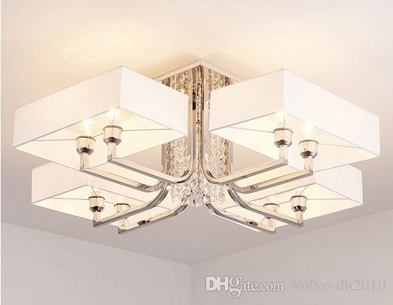 Acquista modern lustre crystal led lampadari illuminazione chrome
