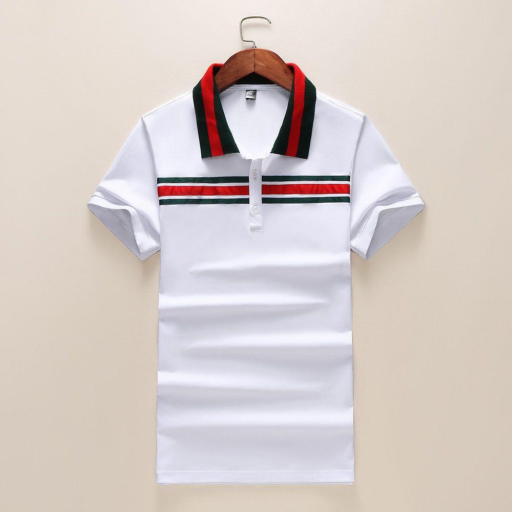 155466b60 Hot Mens Designer Polos Brand Small Horse Crocodile Embroidery Clothing Men  Fabric Letter Polo T-shirt Collar Casual T-shirt Tee Shirt Polo Shirts Men  ...