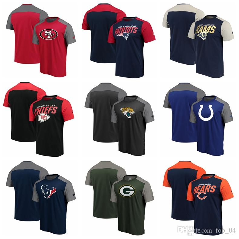 quality design d4763 d1deb Men 49ers Patriots Rams Chiefs Jaguars Colts Texans Packers Bears ProLineby  Fanatics Branded Iconic Color Blocked T-Shirt