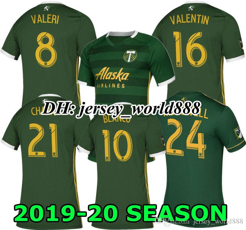 the latest 52ab8 44466 BLANCO BLANCO 19 20 Portland Timbers jersey soccer home MLS VALENTIN CHARA  RIDGEWELL 2019 2020 Portland Timbers away football shirt TOP