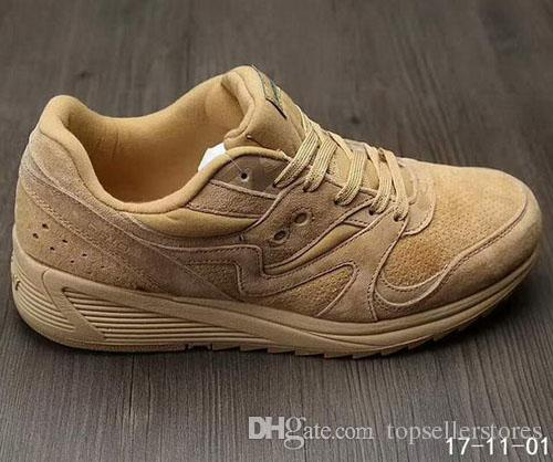 d2e49375e159 Fashion Classic Boots 8000 Saucony Grid Men Women Shoes Brand Designer Dark  Green Yellow Red Black Size 36 45 Online Sale Men Boots Red Boots From ...