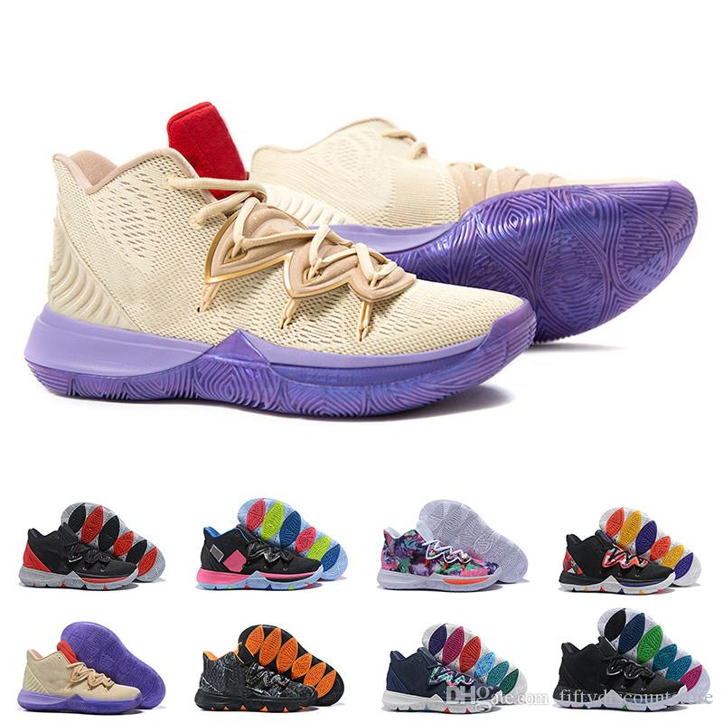 Kyrie 5 Neon Blends Ikhet Taco Just Do It CNY Black Magic Basketball Shoes  For Men Sneakers Sports Mens Shoe Trainers BasketBall Shoes Canada 2019  From ... 4b5d32bf3
