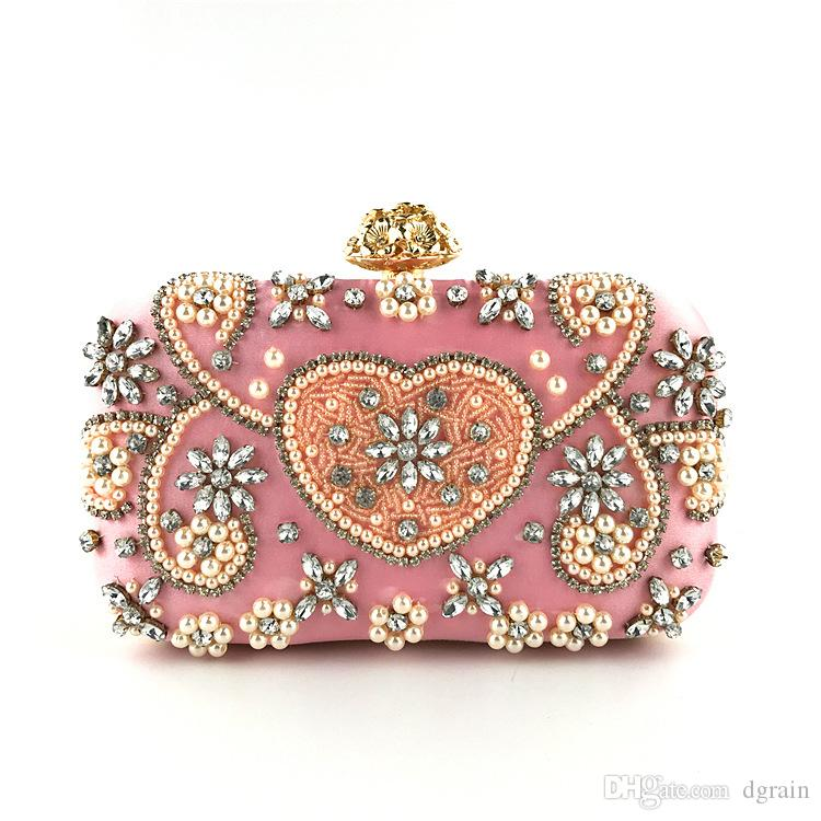 Women Beaded Handbags And Purses Fashion Diamond Hand Clutches High Quality Bridal  Pearl Wedding Evening Clutch Bag Exquisite Cross Body Bag Bags For Women ... c5e868216599