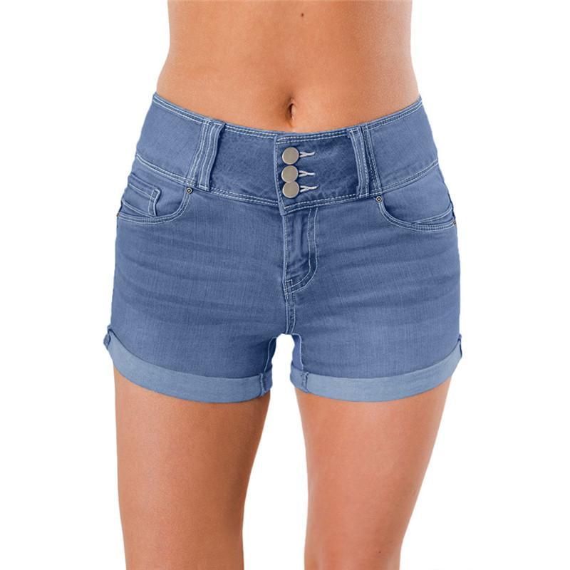 ca55745968 Acheter Sexy Été Vintage Taille Haute Denim Shorts Pour Femmes Élégantes  Dames Casual High Rise Blue Jeans Shorts Taille Plus De $40.5 Du Crutchline  ...