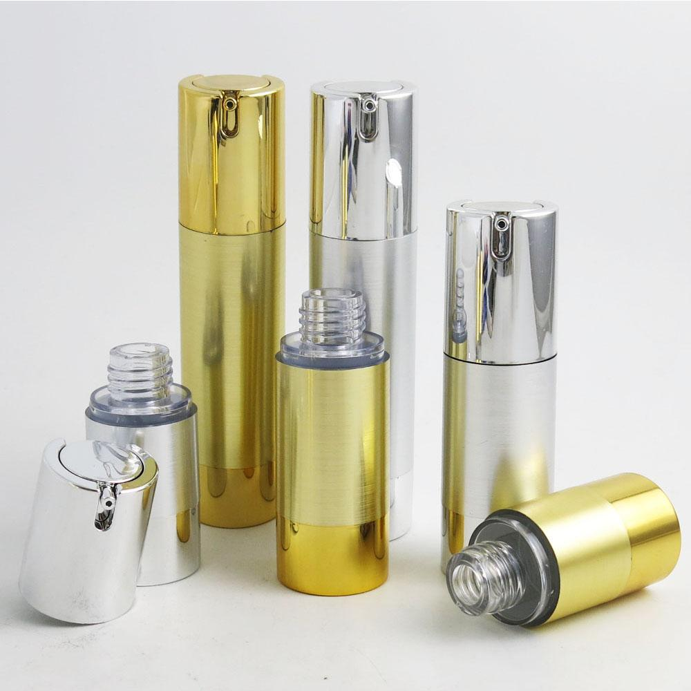 300 x 15ml 30ml 50ml Aluminum Airless lotion Pump Bottle 1OZ Airless Container 30ML Lotion Airless Packaging