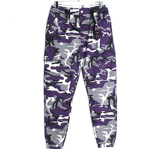 e8f386c83bad 2019 Latest TOP KANYE WEST Camouflage Camo Oversized Men Joggers Pants Hip  Hop Justin Bieber Pink Purple Fashion Pants S XXL From Besonders111
