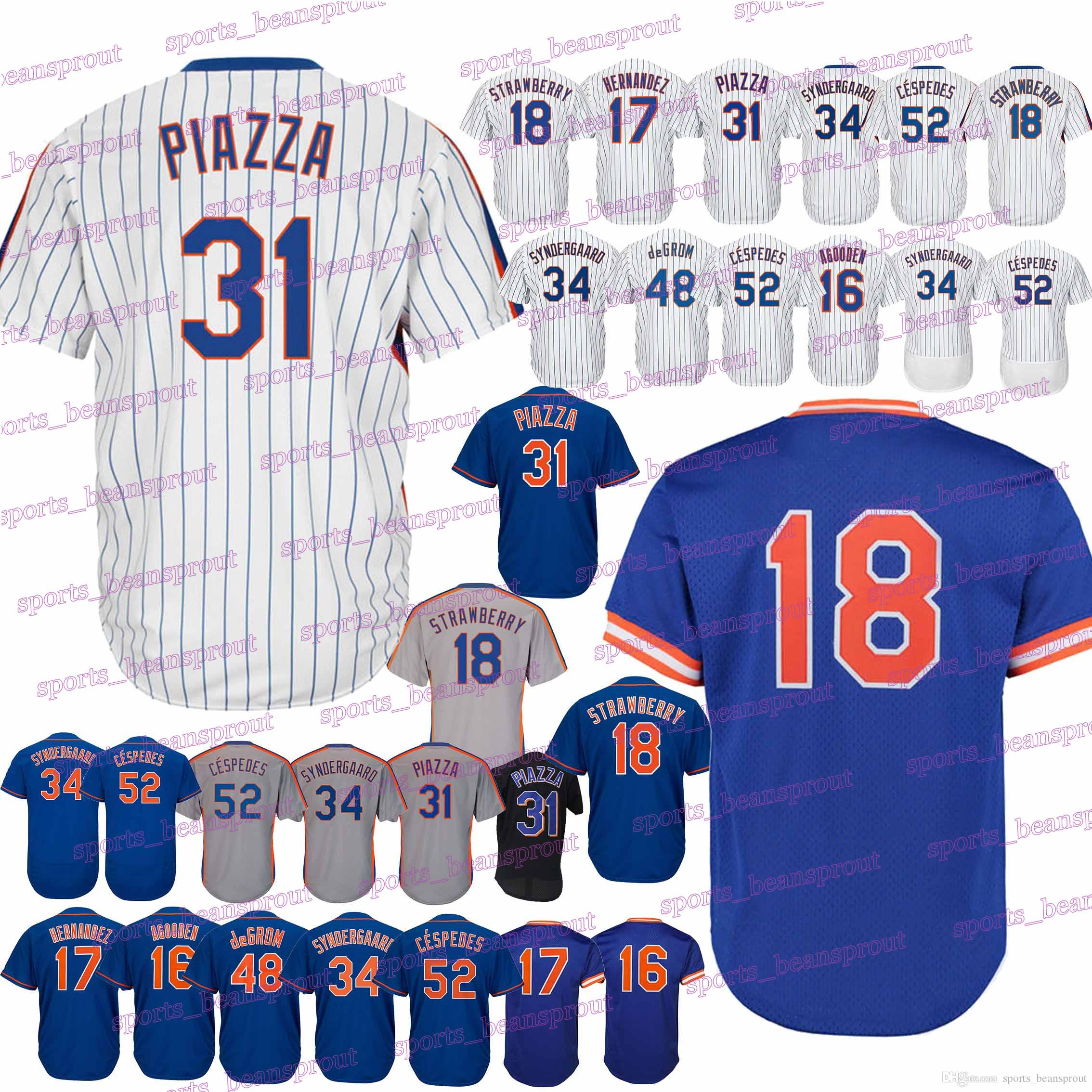 official photos 8b9c4 3632c New York 16 Dwight Gooden Mets Jerseys 17 Keith Hernandez Jersey 18 Darryl  Strawberry Jerseys Baseball Jerseys