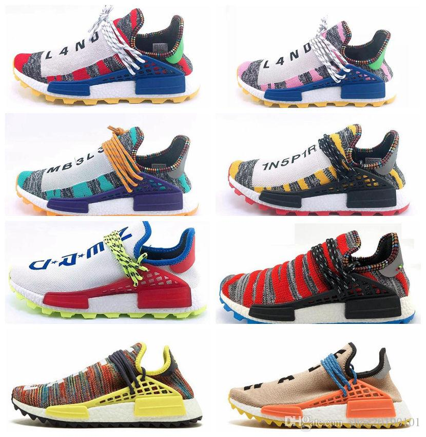 31321fcf647 2019 2019 New Human RACE HU Nmd Pharrell Williams Trail Designer Sports  Neutral Spikes Running Shoes For Men Women Sneakers Casual Trainers Shoe  From ...