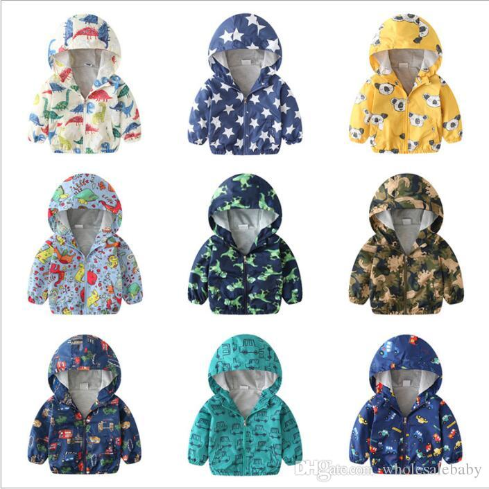 Kids Clothes Boys Jackets Baby Hooded Windbreaker Coats Fashion Cardigan Hoodies Girl Sweatshirts Sleeve Outerwear Ski-wear Jumper C4882