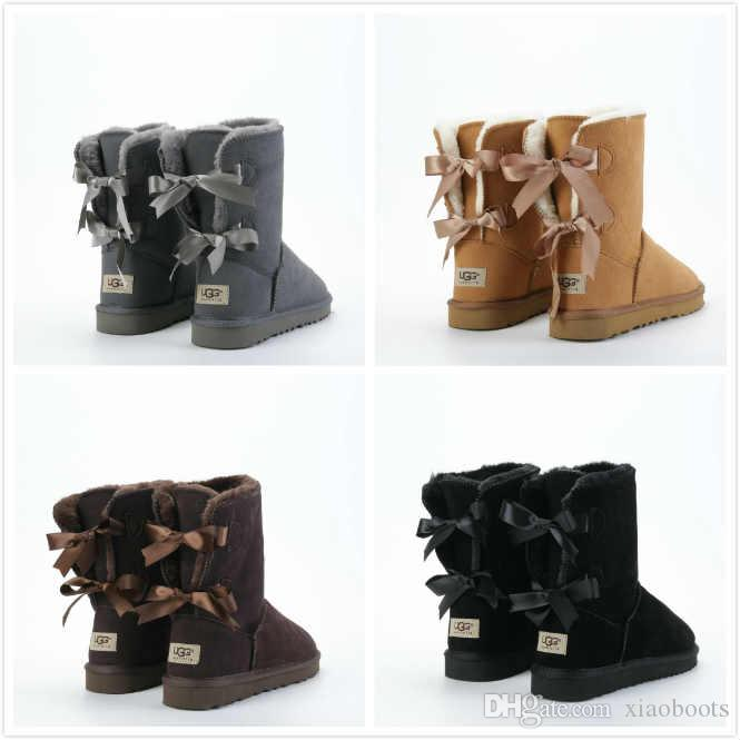 7a2e8031e17 2019 Snow Winter Leather Women UGG Australia Classic Kneel Half ...
