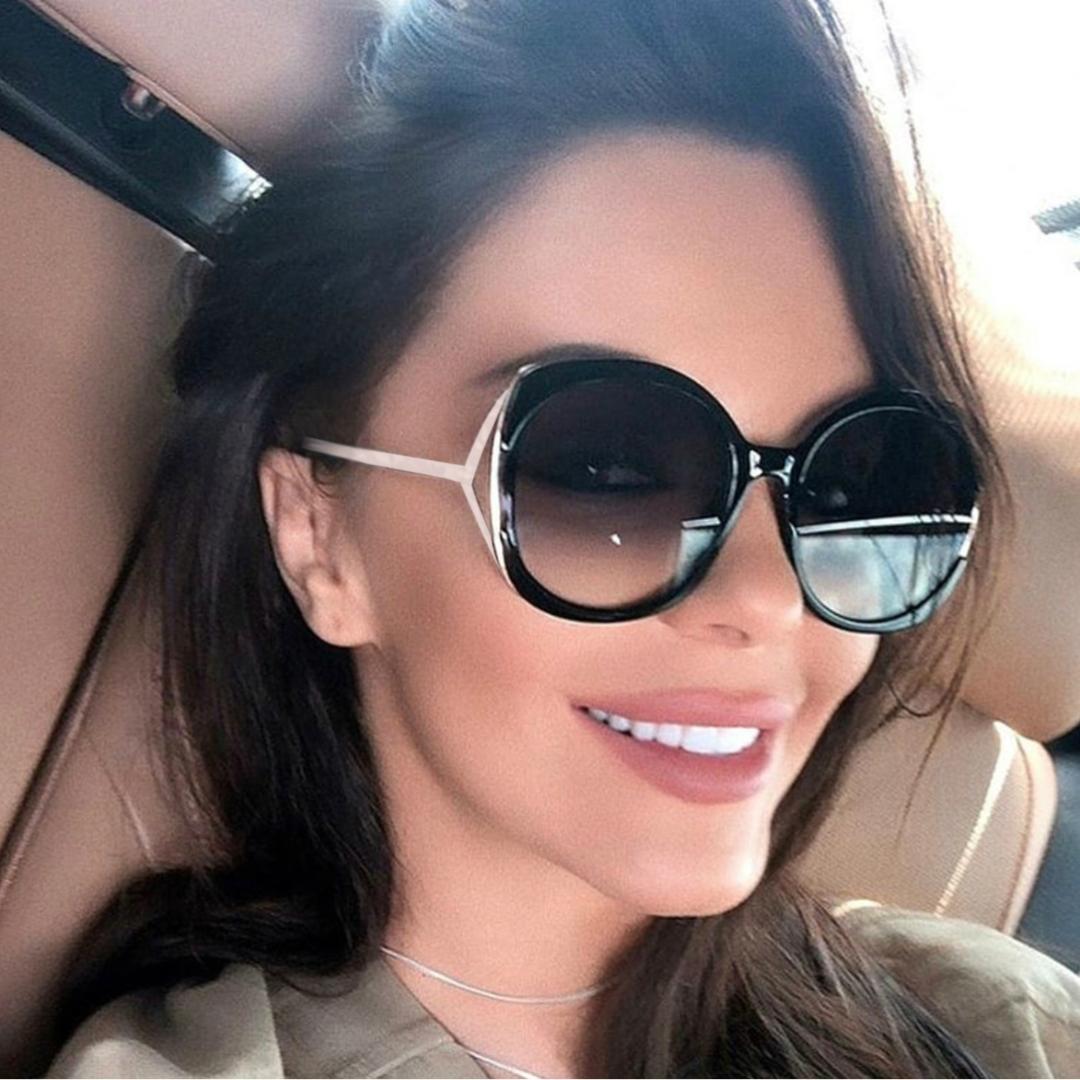 f4f745ab647 Women Sunglasses Oversized 2019 Luxury Design Eye Sun Glasses Shades For  Women Fashion Big Half Frame High Quality Spitfire Sunglasses Native  Sunglasses ...