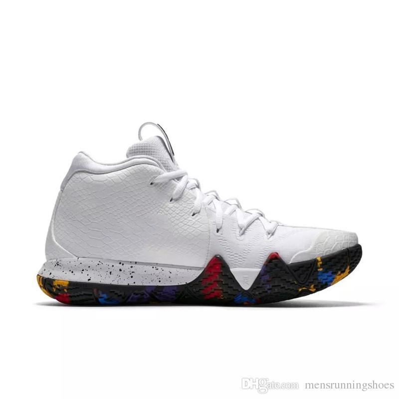 sports shoes 1e53f c9203 Acheter 2019 New Kyrie 5 Chaussures De Basket Ball Pour Les Hommes Pas Cher  Vente Irving 4 Sneakers Sport Hommes Chaussure Wolf Gris Équipe Rouge  Baskets En ...