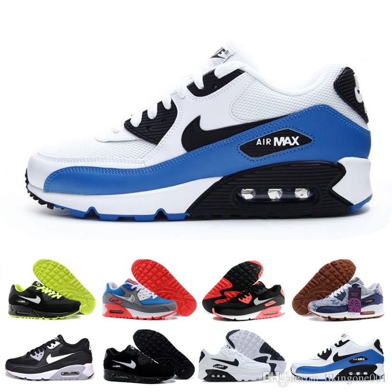 nike air max 90 airmax Venta barata 90 años 90 Hombres mujeres Zapatillas Triple Negro Blanco Rojo cny oreo jogging Outdoor Trainer hombre Calzado