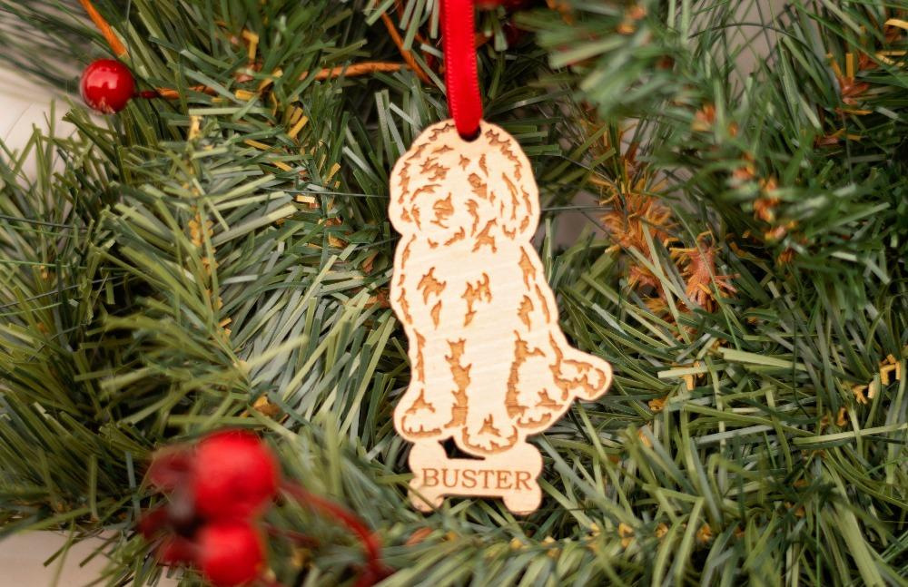 Goldendoodle Ornament Personalized Dog Ornament Dog Breed Christmas