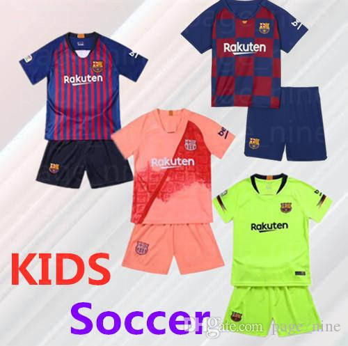 on sale 17405 e6887 10 Lionel Messi Youth Barcelona Soccer Jerseys 7 Coutinho 9 Luis Suarez  Ousmane Dembele 4 Ivan Rakitic Jordi Alba Kids Jersey