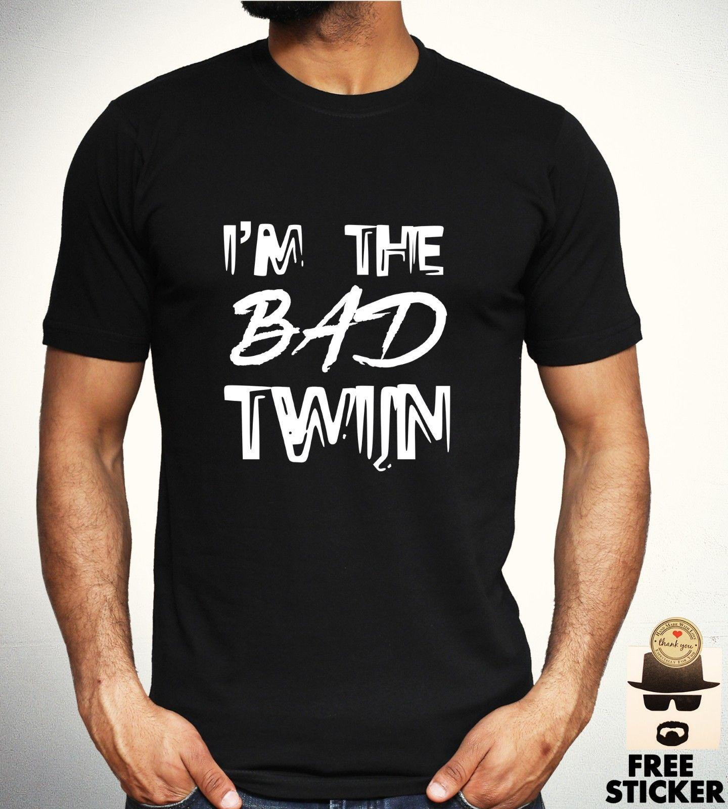 Im The Bad Twin T Shirt Funny Cool Novelty Brother Birthday Gift Present Top Men Hilarious Tee Shirts Online Buy From Oldshop77 1148