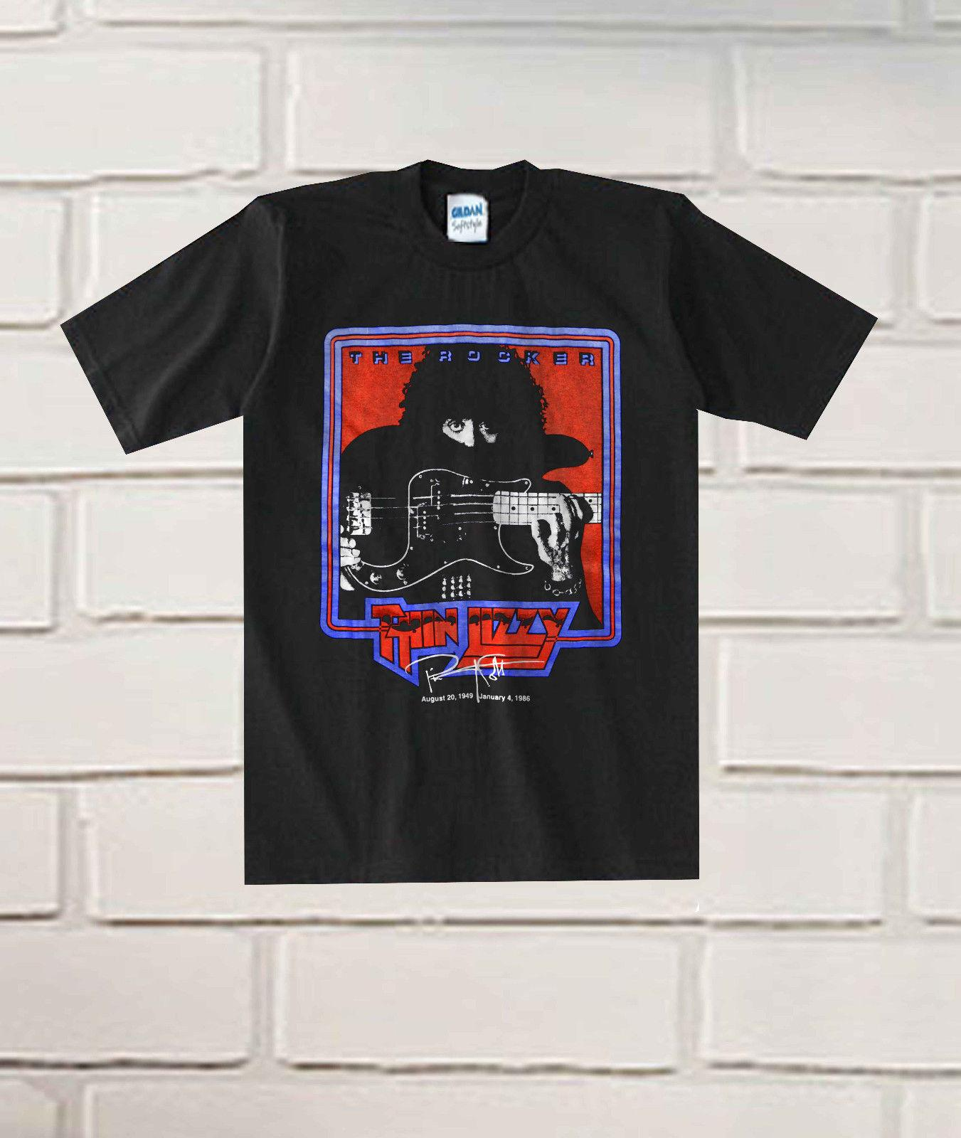 2e0f0b4ecec New Popular Vintage 1990s Thin Lizzy Phil Lynott T Shirt New High Quality  Top Tee Print T Shirt Summer Style 100% Cotton Casual T Shirts Online White  Shirt ...