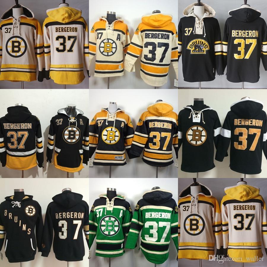 Hot Sale Mens Womens Kids Boston Bruins 37 Patrice Bergeron Beige ... ce976e584