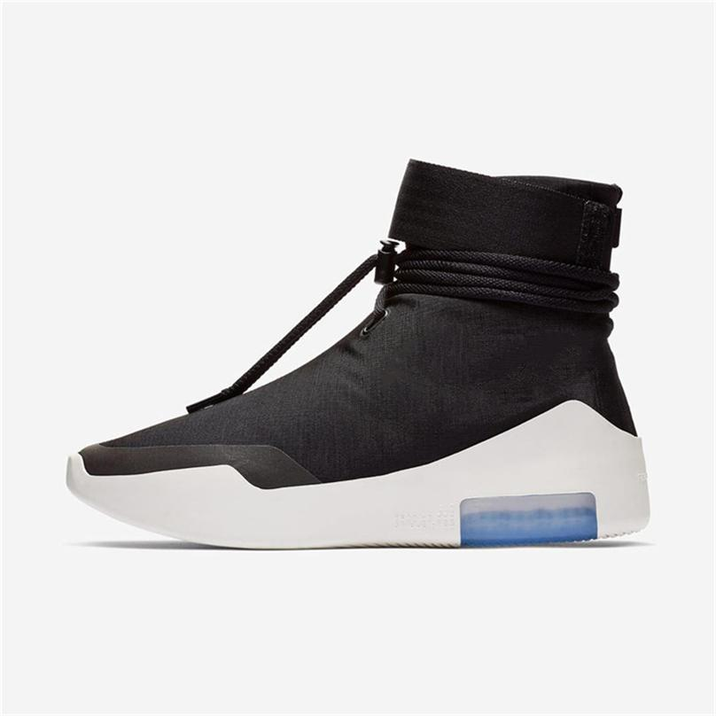 8a23d9973fe8 2018 Authentic Air Fear of God 1 Boots Light Bone Grey Black Zoom 1S ...